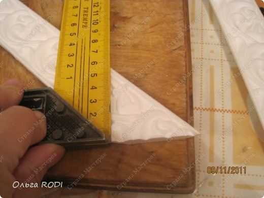 Как из потолочного плинтуса сделать рамку для фото