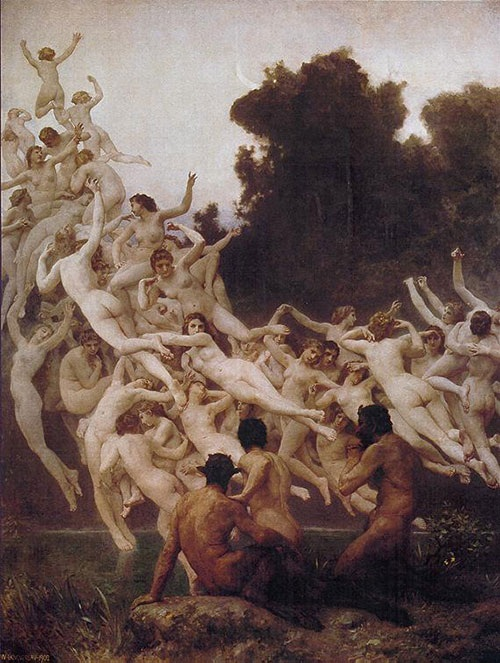 «Ореады». Автор: William Bouguereau.