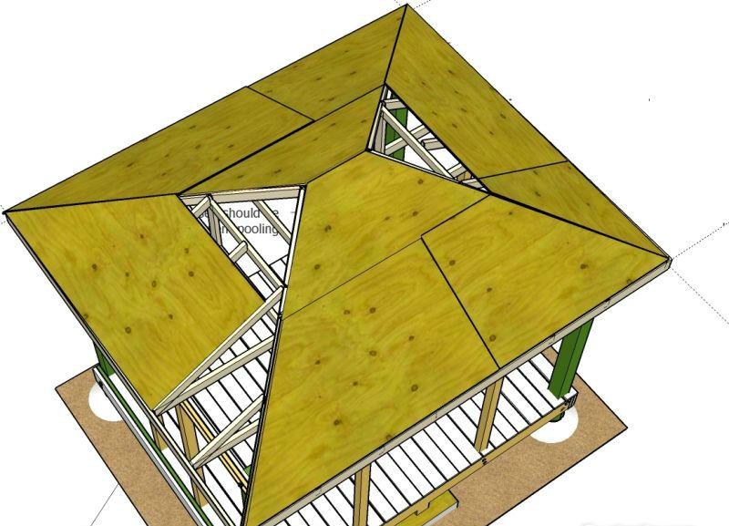 Строим крышу четырехскатную своими руками 33