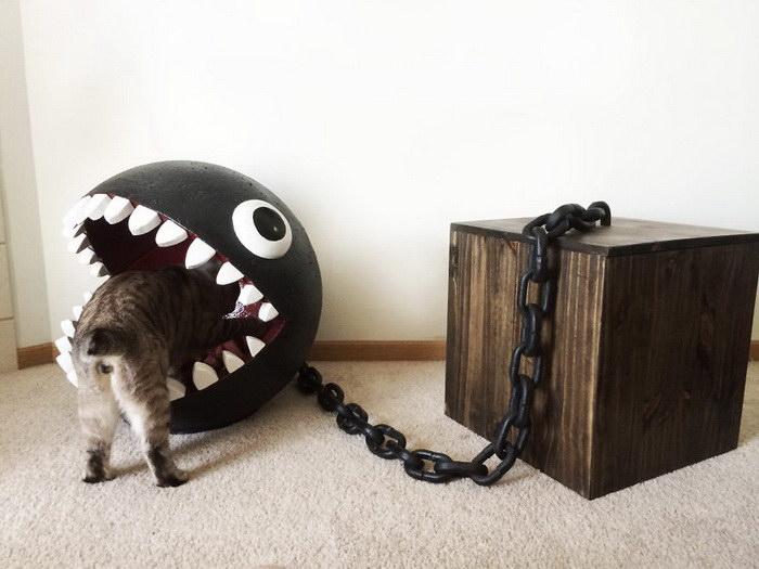 Кровать для кошки в стиле монстра из Марио своими руками