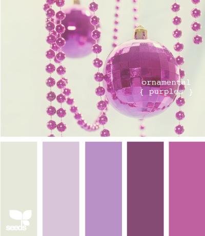 декоративные пурпурные