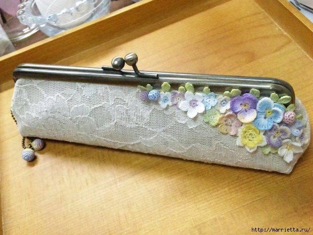 Украшение и декор предметов цветочками крючком (9) (640x480, 189Kb)
