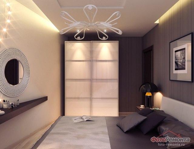 Спальня шириной 2 метра дизайн
