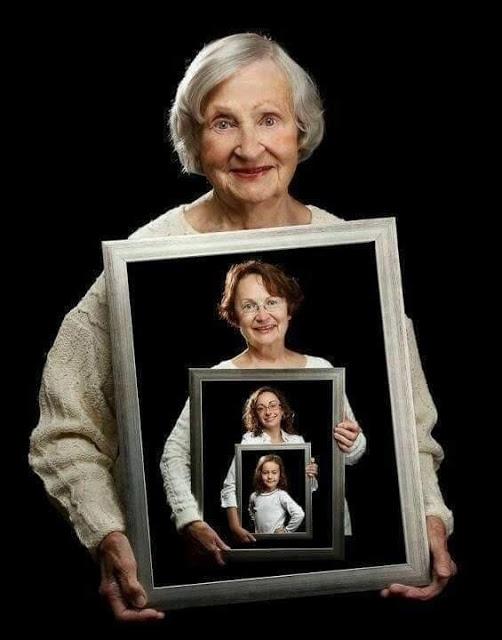 Связь поколений. Идея для фото