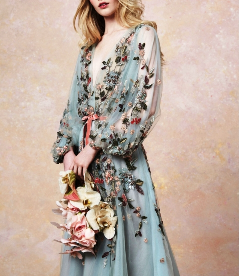 Marchesa весна-лето 2019 — вечерние наряды из сна принцессы