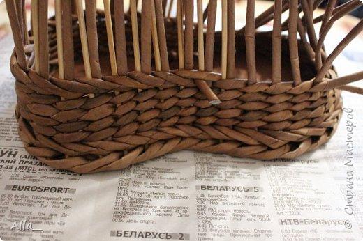 Мастер-класс Поделка изделие Плетение Как я делаю башмак Трубочки бумажные фото 6