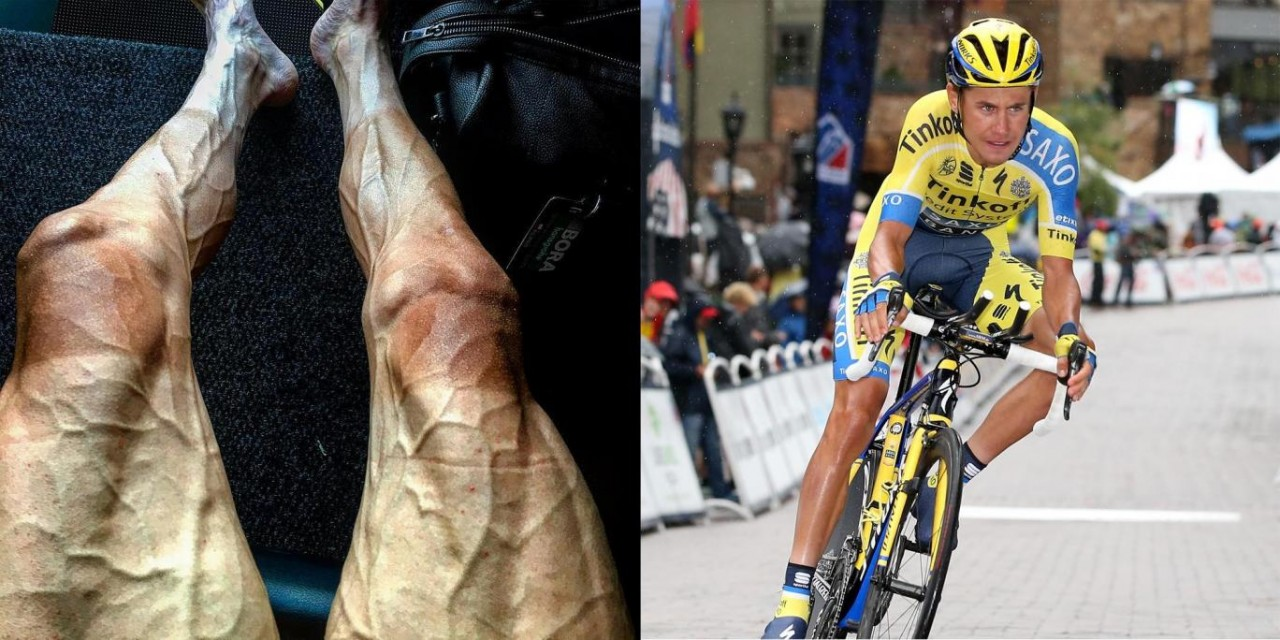 Ноги велосипедиста после 3000 км велогонки