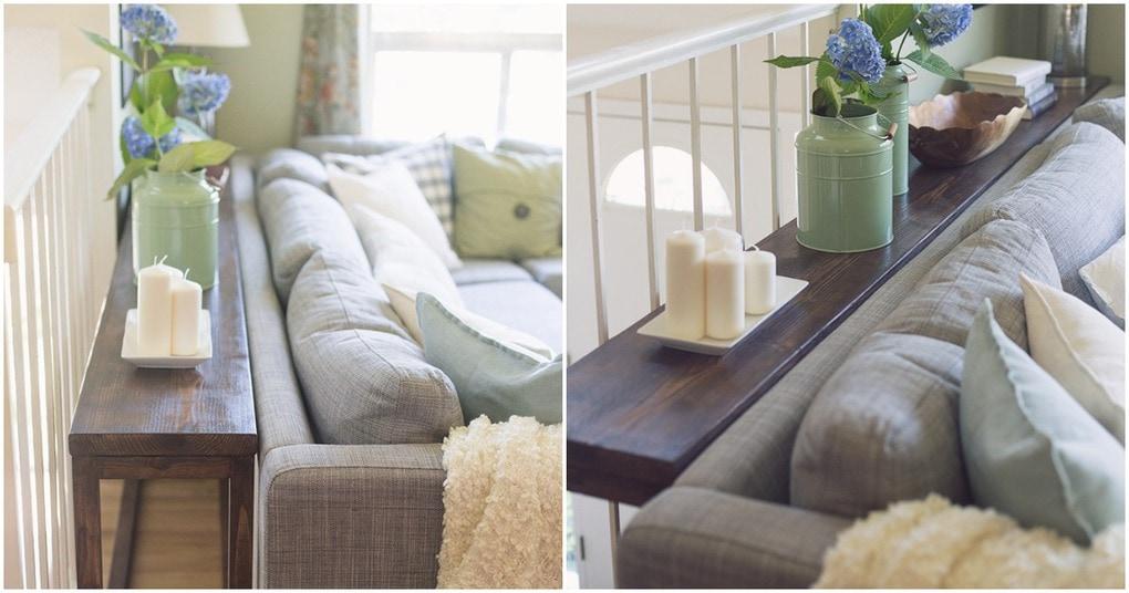 Отличная идея для использования места за диваном