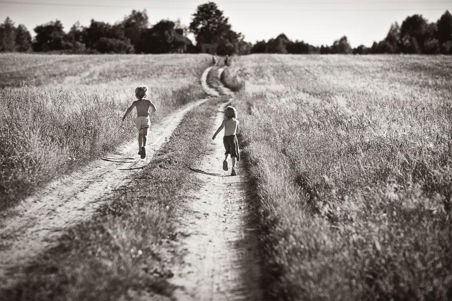 Летние каникулы в польской деревне - чёрно-белые фото-19