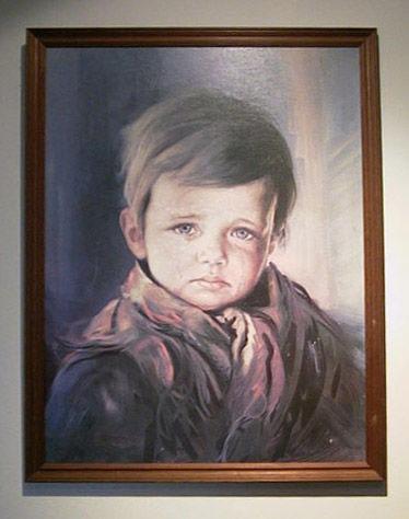 картина плачущий мальчик