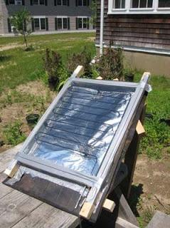 Солнечный коллектор из змеевика холодильника