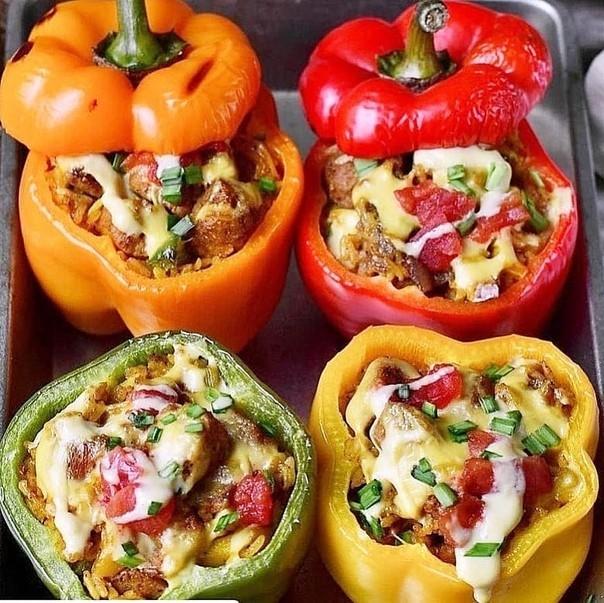 Перцы фаршированные, вкус лета! Рецепт, Болгарский перец, Кулинария