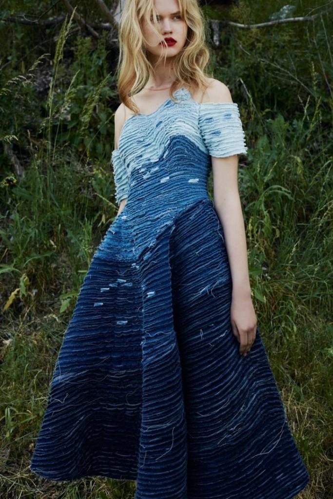 Одежда с декором в технике синель