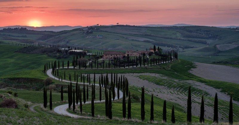 Рассветы и закаты Тосканы вобрали всю красоту мира