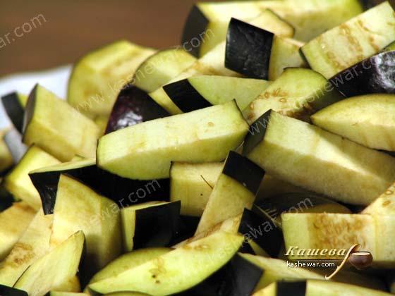 Баклажаны с чесноком, маринованные в ароматном масле от Джейми Оливера