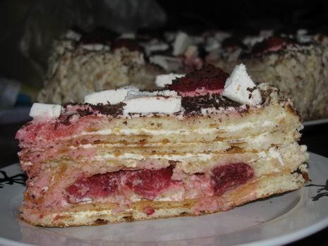 Торт на сковородке с ягодами-вариация 2