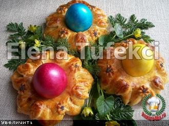 """Пасхальные булочки  """"Подставочки для яиц"""""""