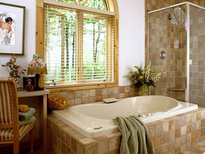Красивые интерьеры ванных комнат