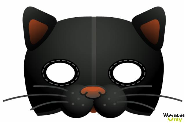 Новогодние маски из бумаги - праздник уже с вами маска кошки