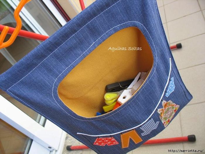 Как сшить мешок для игрушек из джинсы
