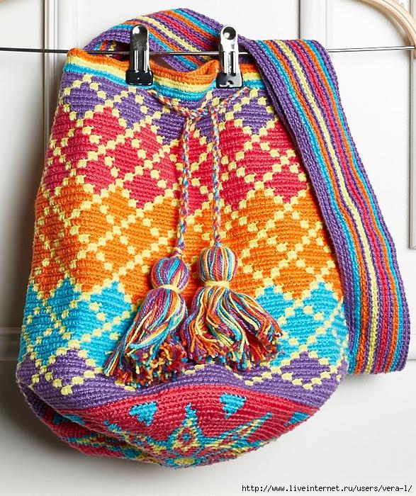 ef38deb7d7f6 Красивая сумка-торба крючком. Схемы