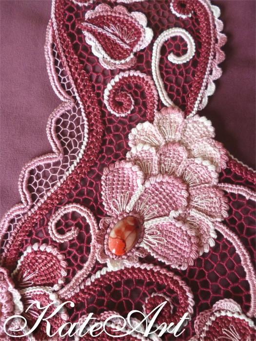 Изумительное платье в технике ирландского кружева Екатерины Поляковой