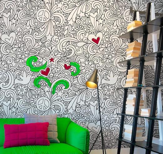 Обои-раскраска — отличное решение для детской комнаты
