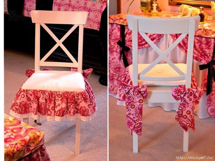 Декоративные подушки на стулья, дизайн, фото, видео