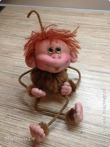 Игрушка Мастер-класс Новый год Шитьё МК по обезьянке Капрон Проволока Пряжа Ткань фото 24