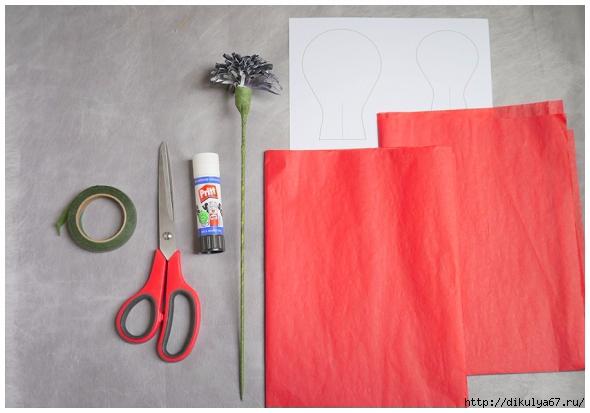 Работаем ручками: Маки из бумаги. Рукодельничаем.