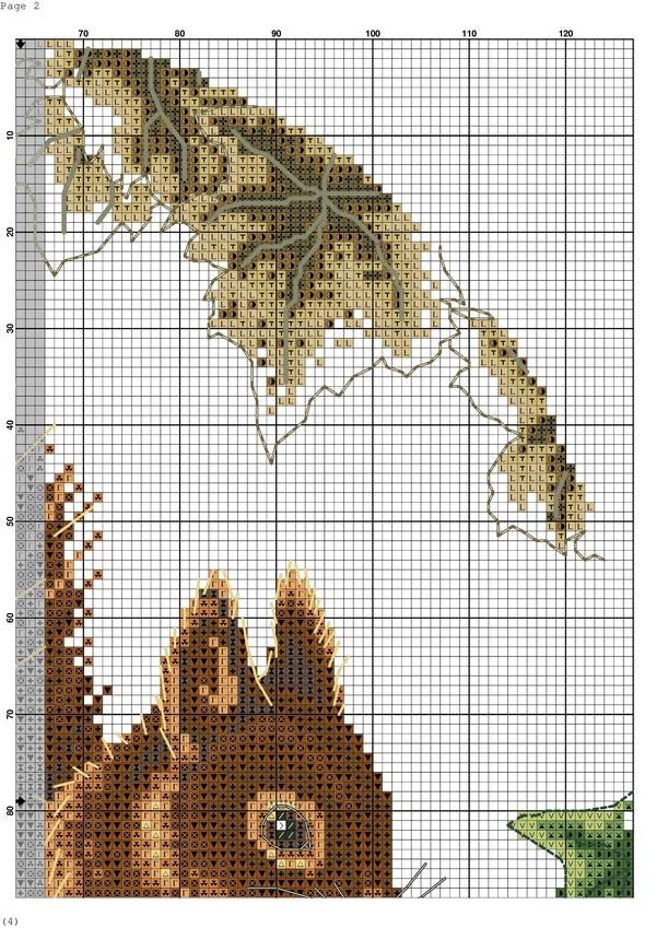 Схема вышивка крестом белка 84