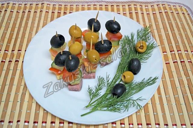 закуски на шпажках рецепты с фото на праздничный стол рецепты