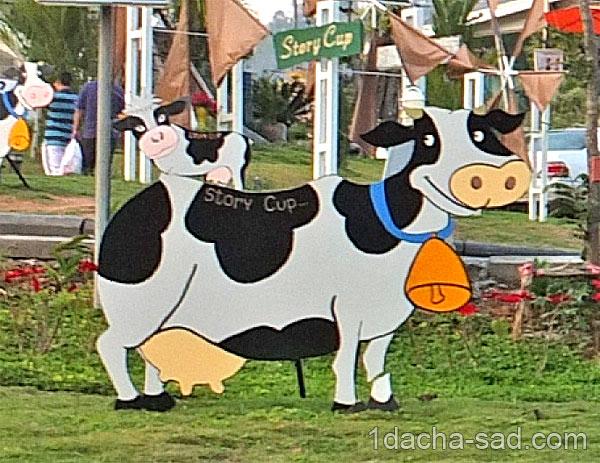 Как из ванны сделать корову