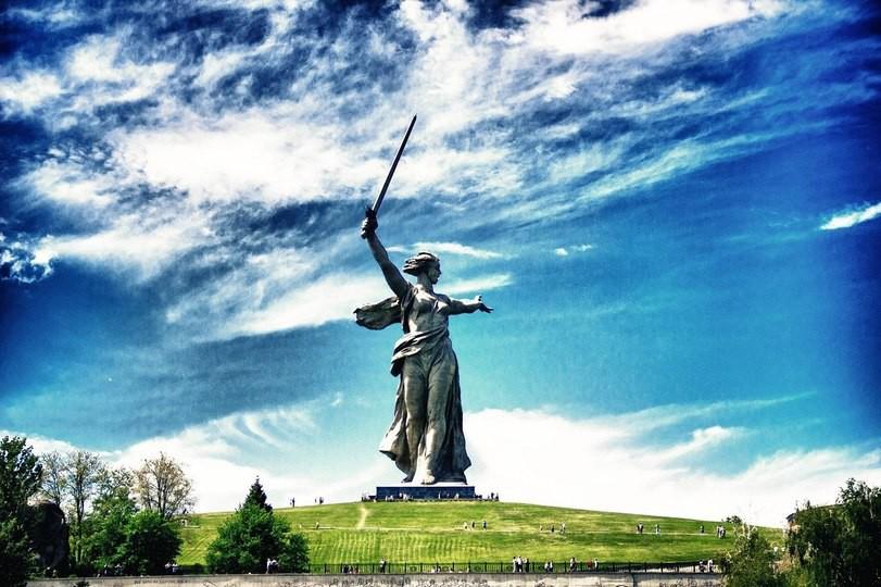 Мамаев курган и монумент «Родина-мать»(Волгоград) Чудеса России, природа, сооружения