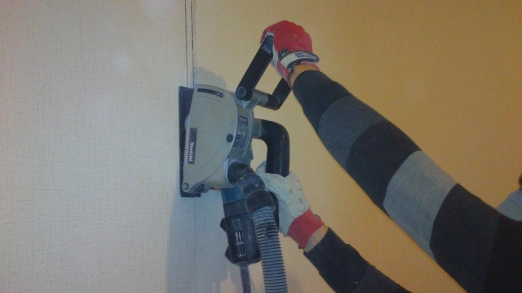 Как сделать штробу под проводку в пеноблоке