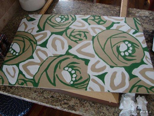 Рисуем эскиз картины из бобовых