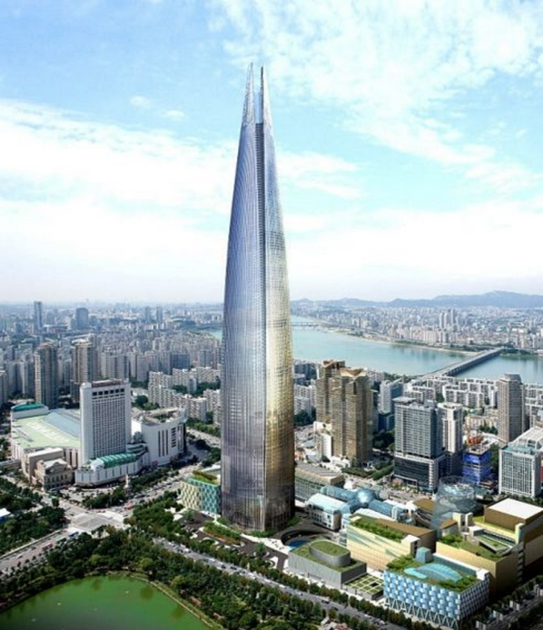 Lotte World Tower в Сеуле, Южная Корея