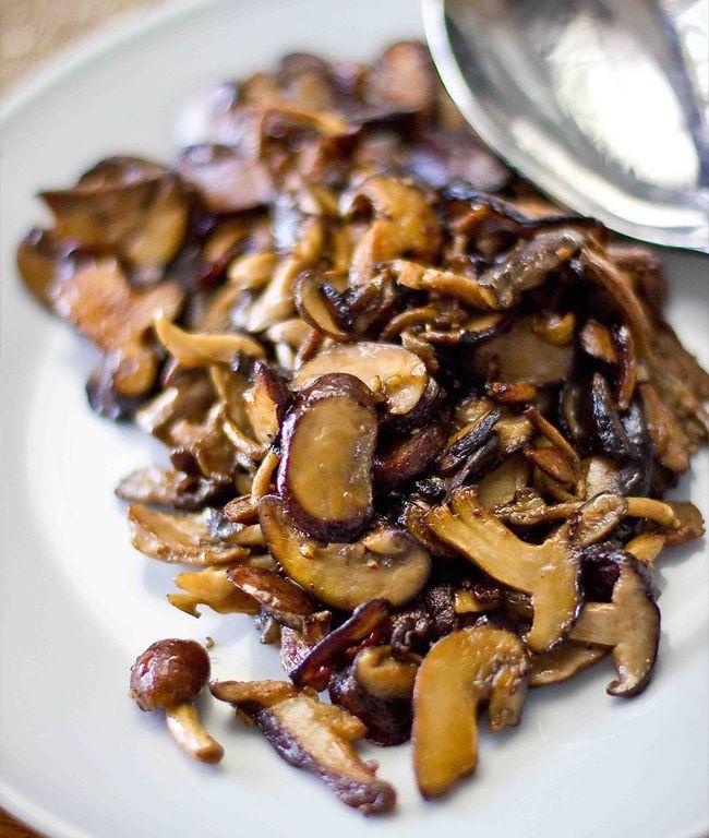 Безумно вкусные жареные грибы еда, овощи