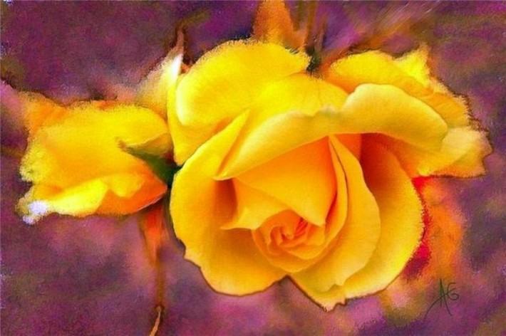 Цветочная акварель Alberto Guillen