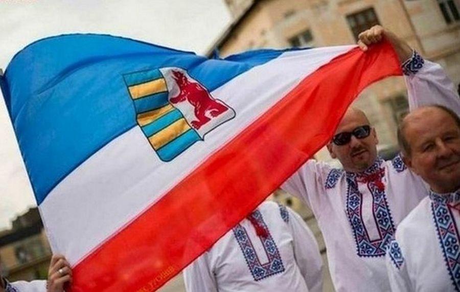 В Мукачево состоялся марш и митинг русинов против террора «Правого сектора», за мир и особый статус Закарпатья