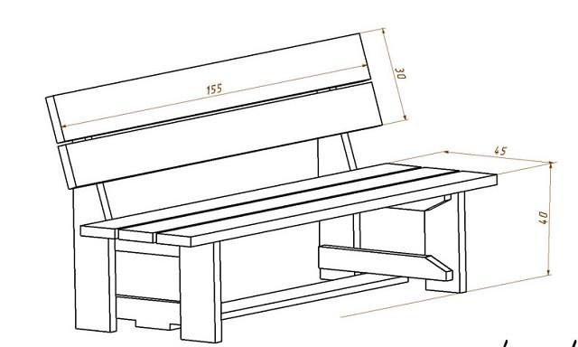 Идеи и чертежи скамеек. Сохрани, может пригодится 
