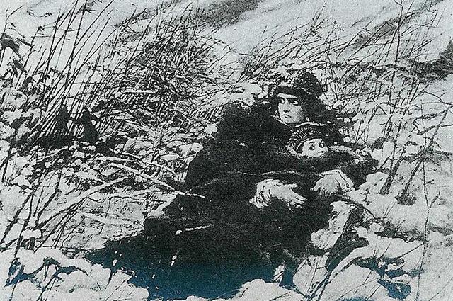 «Бегство Марины с сыном». Художник Леон Ян Вычулковский.