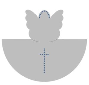 ангел из бумаги схема