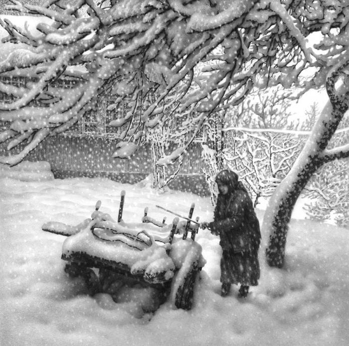 рисунки карандашом Гурам Доленджашвили - 12
