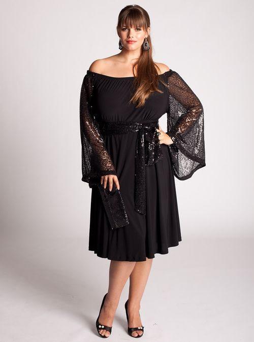 Вечернее платье с брюками 38