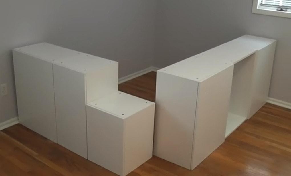 Функциональная вещь для спальни из кухонных шкафчиков IKEA