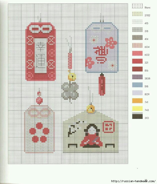 Подушки в восточном стиле - вышивка крестом ХорошоДома
