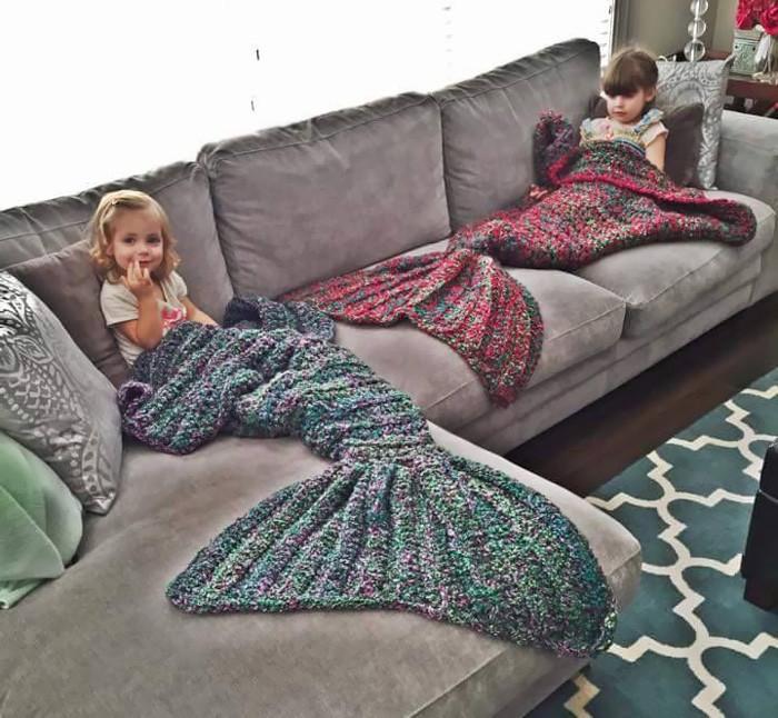 Одеяло — хвост русалки, для любительниц сказок