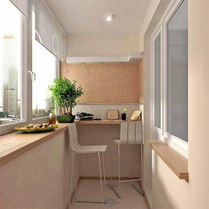 Уютные идеи интерьера для маленького балкона