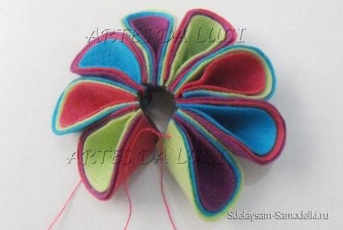 Цветок из фетра